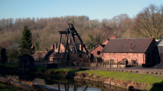 ironbridge gorge museums in shropshire - furnace stock videos & royalty-free footage