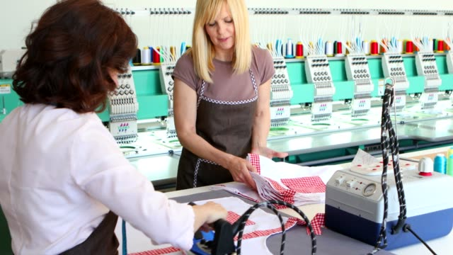 ironing service - embroidery stock videos & royalty-free footage