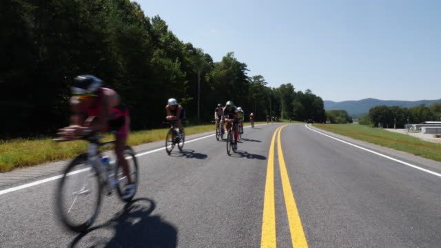 ironman 70.3 men bike race in chattanooga, tn - shorts stock videos & royalty-free footage
