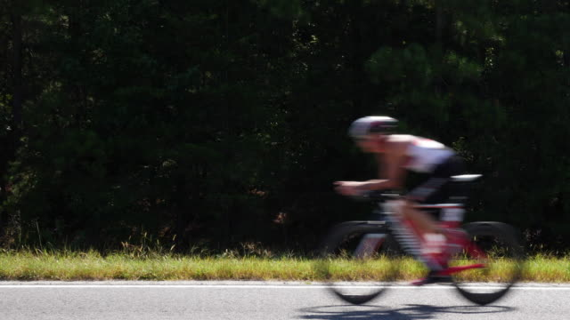 ironman 70.3 men bike race in chattanooga, tn - blurred motion stock videos & royalty-free footage