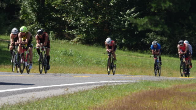 ironman 70.3 men bike race in chattanooga, tn - professional sportsperson stock videos & royalty-free footage