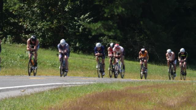 ironman 70.3 men bike race in chattanooga, tn - world sports championship stock videos & royalty-free footage