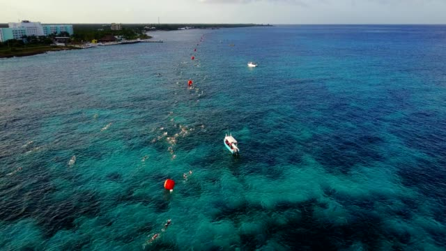 ironman triathlon competition in cozumel quintana roo mexico - cozumel stock videos and b-roll footage