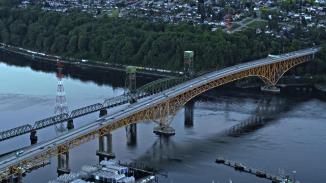 AERIAL Ironworkers Memorial Bridge in Vancouver