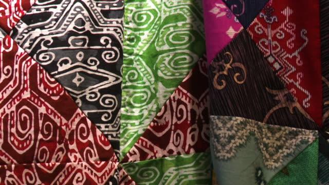 irregular abstract batik patterns, malaysia - batik stock videos and b-roll footage