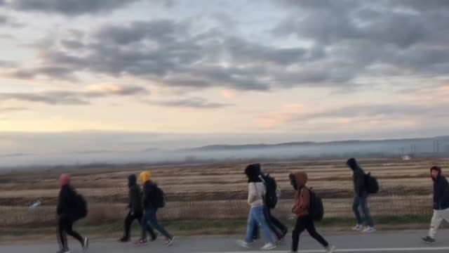 irregular migrants planning to cross into greece on friday flocked to northwestern turkey following an airstrike by forces of the bashar al-assad... - refugee stock videos & royalty-free footage