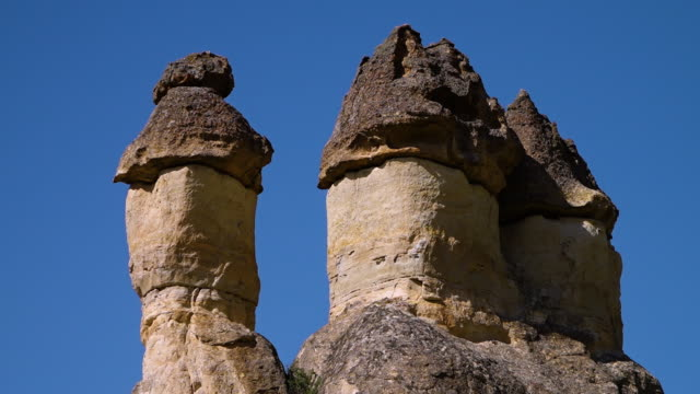 irregular shaped erect rock formation tops - natural column stock videos and b-roll footage
