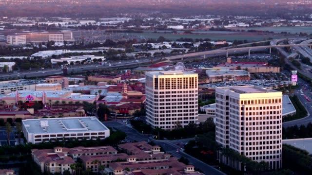 irvine skyline - irvine california stock videos & royalty-free footage
