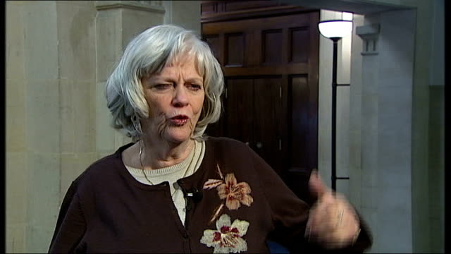is mick philpott an indictment of the welfare system?; london: westminster: ann widdecombe interview sot - what he was embodied was laziest /... - ann widdecombe stock videos & royalty-free footage