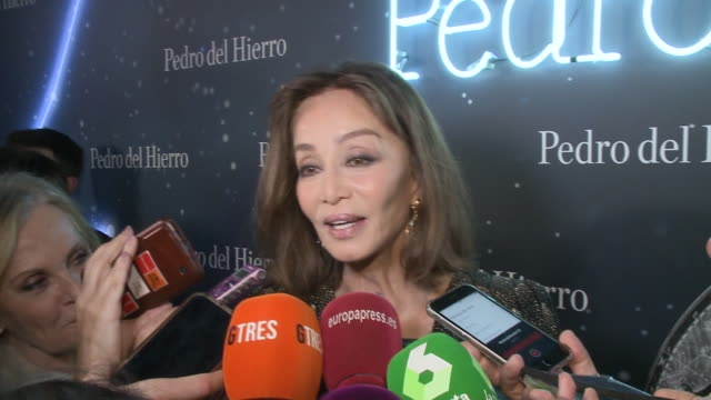 isabel preysler attends pedro del hierro fashion show during the merecedes benz fashion week autum/winter 202021 on january 29 2020 in madrid spain - godmother stock videos & royalty-free footage