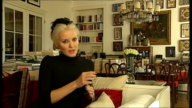'Isabella Blow Fashion Galore' exhibition General views / Daphne Guinness interview Daphne Guinness interview SOT On fashion in music / would be nice...