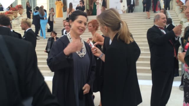 Isabella Rossellini at amfAR 22nd Cinema Against AIDS Reception at Hotel du CapEdenRoc on May 21 2015 in Cap d'Antibes France
