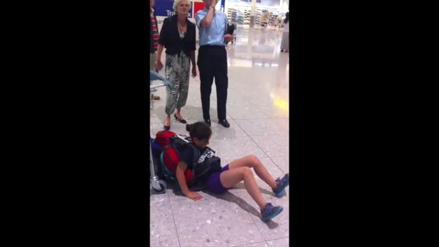 isabella travelled from canada to her former home of london, england, in july 2014. her nine-year-old daughter needed three backpacks to hold all of... - hand weight stock videos & royalty-free footage