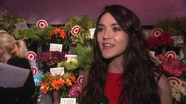 INTERVIEW Isabelle Fuhrman on Prabal being inspired by love and being a fan of his fashion on wearing a piece from the collection on what love is at...