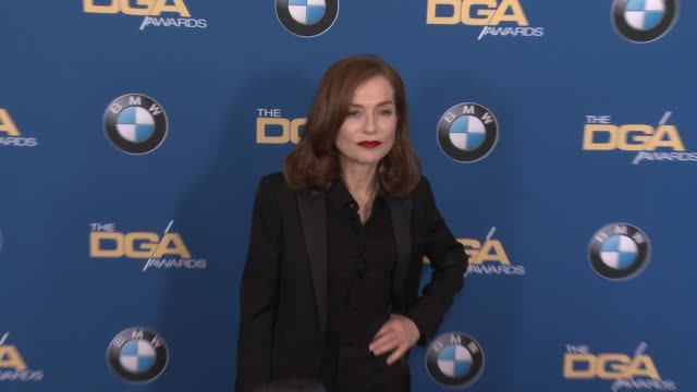 isabelle huppert at 69th annual directors guild of america awards in los angeles ca - directors guild of america awards stock videos & royalty-free footage