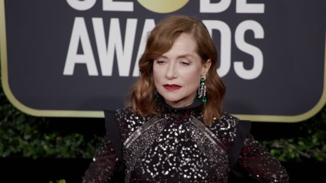 Isabelle Huppert at the 75th Annual Golden Globe Awards at The Beverly Hilton Hotel on January 07 2018 in Beverly Hills California