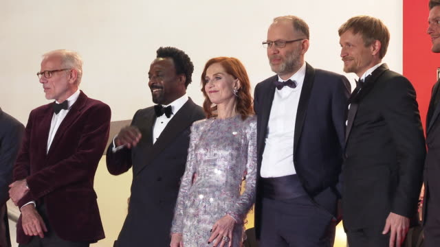 isabelle huppert jeremie renier ariyon bakare isabelle huppert ira sachs pascal greggory thierry fremaux at 'frankie' red carpet arrivals the 72nd... - cannes video stock e b–roll