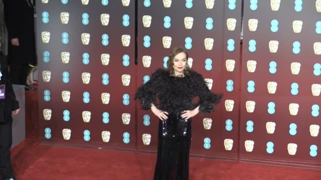 Isabelle Huppert on the red carpet of the 2018 BAFTA award ceremony in London London UK 18th february 2018