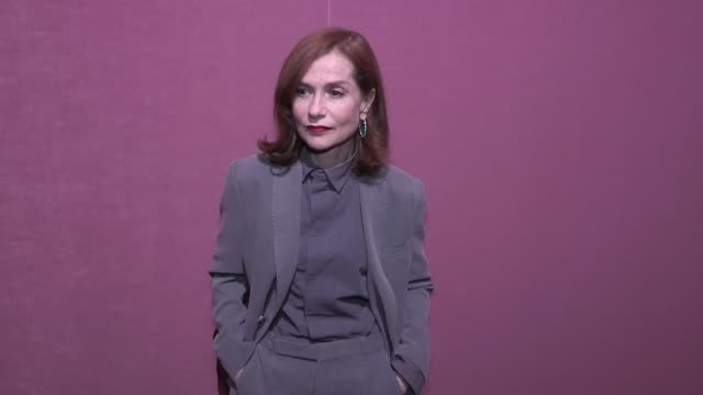 Isabelle Huppert Timothee Chalamet Natalia Vodianova and Antoine Arnault at the Berluti Menswear Fall Winter 2018 Fashion Show in Paris Paris France...