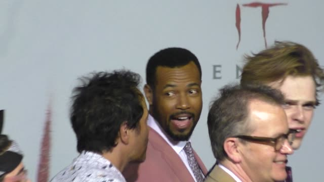isaiah mustafa outside the it 2 premiere at bruin theatre in westwood in celebrity sightings in los angeles - bruin theater stock videos & royalty-free footage