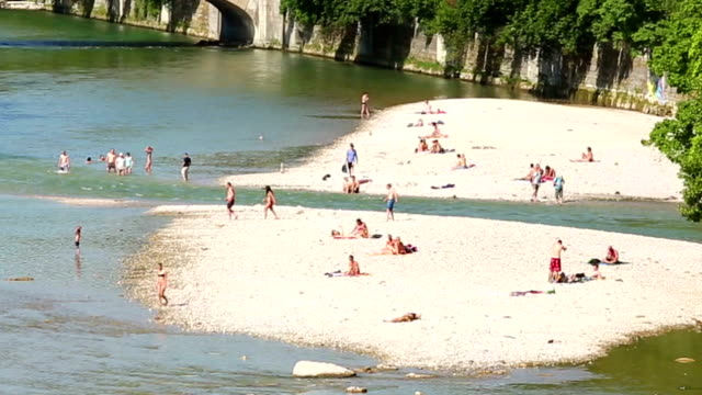 isar river in muinch - coastal feature stock videos & royalty-free footage