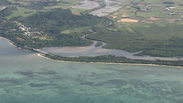vidéos et rushes de aerial, ishigaki island, okinawa, japan - île
