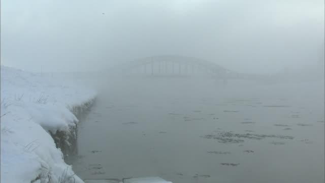 ishikari river in winter - kamikawa district ishikari stock videos and b-roll footage