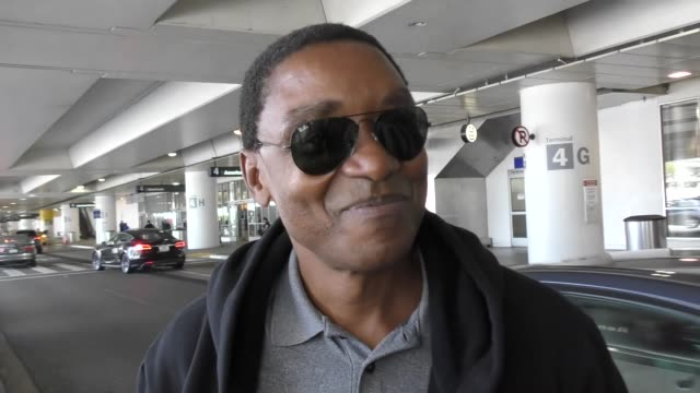 INTERVIEW Isiah Thomas on sharing his name with Isaiah Thomas of the Boston Celtics at Los Angeles International Airport at Celebrity Sightings in...