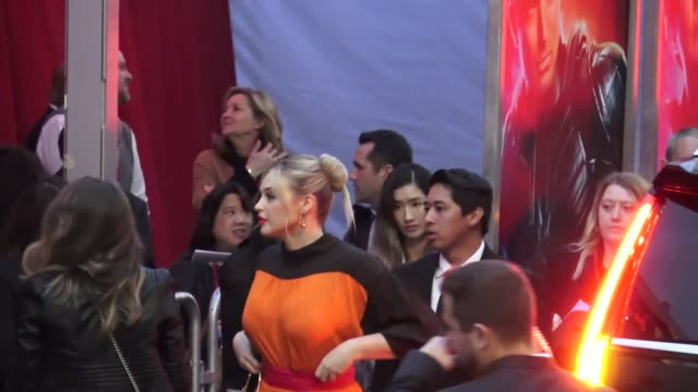 iskra lawrence arrives at the captain marvel premiere at dolby theatre in hollywood in celebrity sightings in los angeles, - the dolby theatre stock videos & royalty-free footage