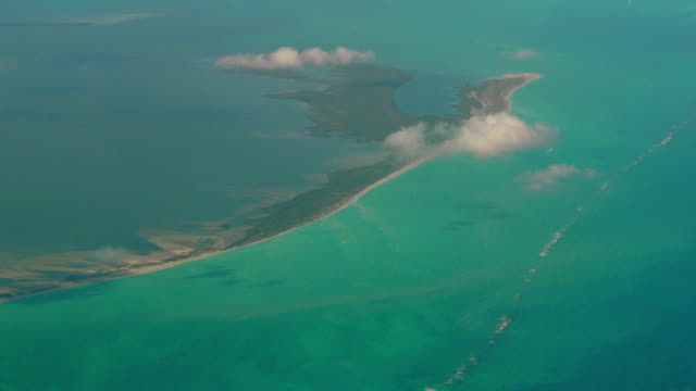 isla blanca aerial view, cancun, mexico - quintana roo stock videos and b-roll footage