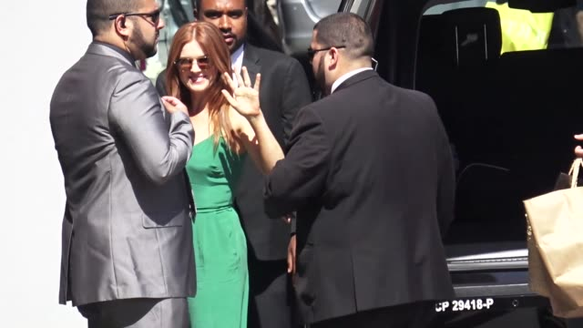isla fisher arriving to jimmy kimmel live in hollywood on june 06 2018 in los angeles california - jimmy kimmel stock videos and b-roll footage