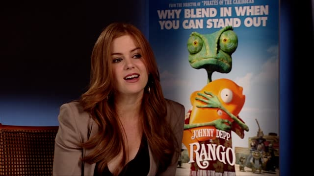 Isla Fisher on his process technique at the Rango Interviews at London England