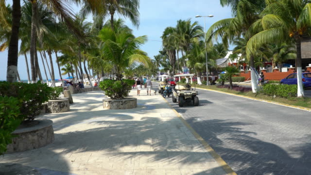 isla mujeres of cancun coast - golf cart stock videos & royalty-free footage
