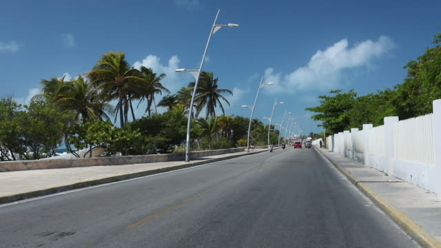 isla mujeres - golf cart stock videos and b-roll footage