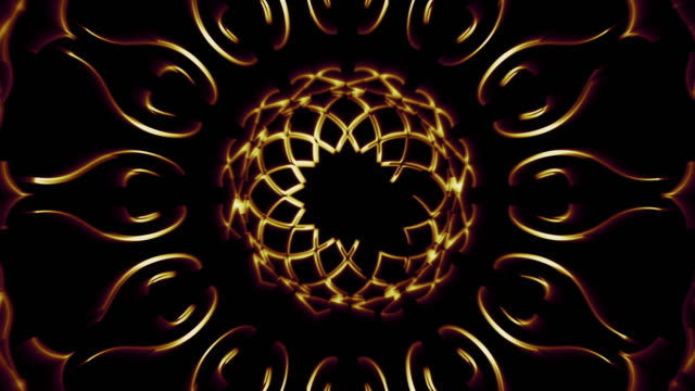 islamic art gold color for tulip decorative - decorative art stock videos & royalty-free footage