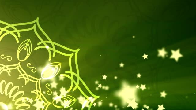 islamic background looped - lanterna attrezzatura per illuminazione video stock e b–roll