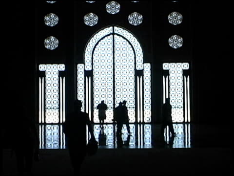 islamic mosque window silhouettes from inside - islam stock videos & royalty-free footage