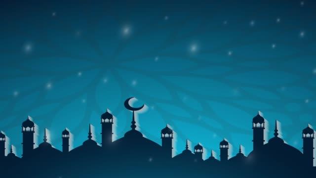 islamic ramadan - eid murabak background - ramadan stock videos & royalty-free footage