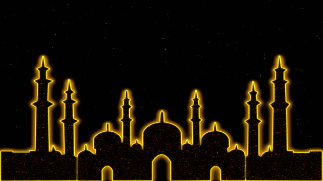 islamic ramadan eid neon background - eid mubarak stock videos & royalty-free footage