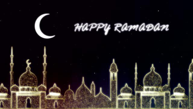 islamic ramadan - eid neon background - short phrase stock videos & royalty-free footage