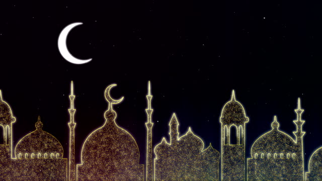 islamic ramadan - eid neon background - eid mubarak stock videos & royalty-free footage