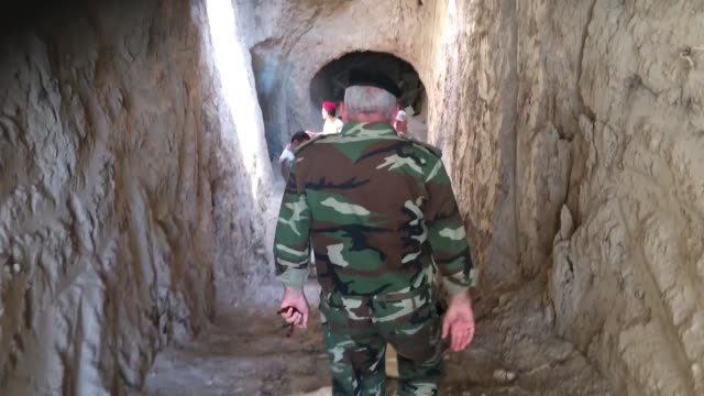 islamic state tunnels and weapons in qaraqosh assyrian town held by islamic state for 2 years and 3 months the general of the neveneh protection unit... - ninawa stock videos & royalty-free footage