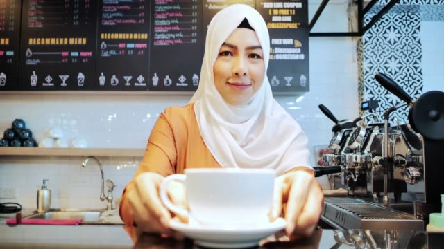 islamic woman small business owner. muslim entrepreneur concept.arab youth - middle eastern culture stock videos & royalty-free footage