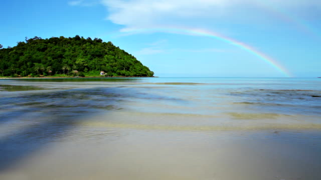 island and a rainbow - doing the splits stock videos & royalty-free footage
