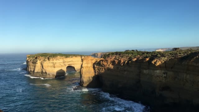 island arch at port campbell national park great ocean road in victoria australia - port campbell national park stock videos & royalty-free footage