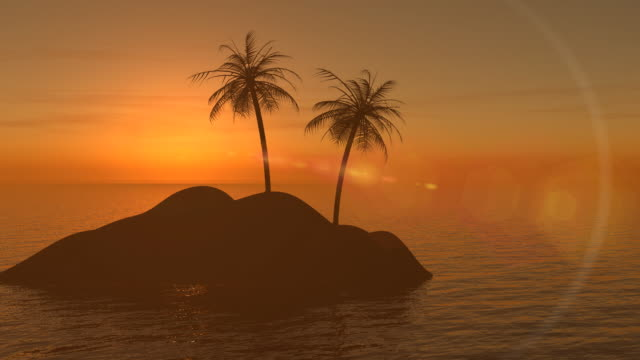 island at sunset - lagoon stock videos & royalty-free footage