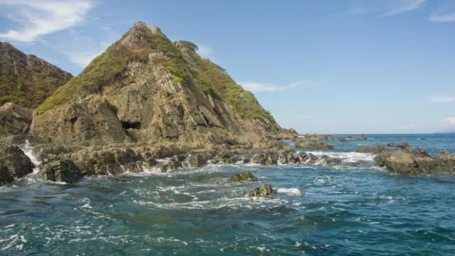 vidéos et rushes de island close to costa rica - strate géologique