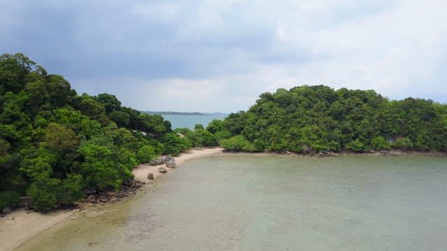 island coastline in thailand, aerial - land stock videos & royalty-free footage