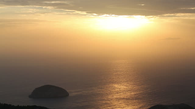 island in the aegean sea at sunset - rhodes dodecanese islands stock videos & royalty-free footage