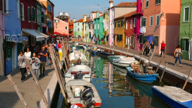 Island of Burano at Venice Italy